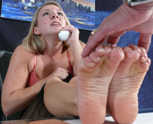 Slave begs for bare feet foot fetish foot domination 7